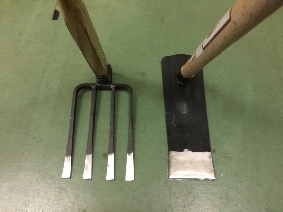 平鍬と備中鍬